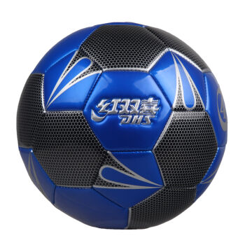 红双喜耐磨专业PU机缝足球校园儿童运动4号足球 FS4202蓝色(4号球)