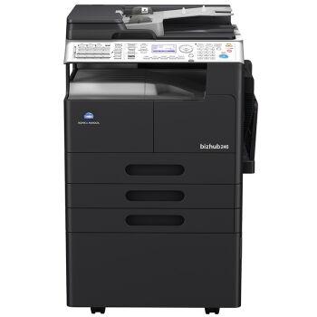 柯尼卡美能达bizhub266复合机黑白激光数码多功能A3复印机 主机+双纸盒+输稿器
