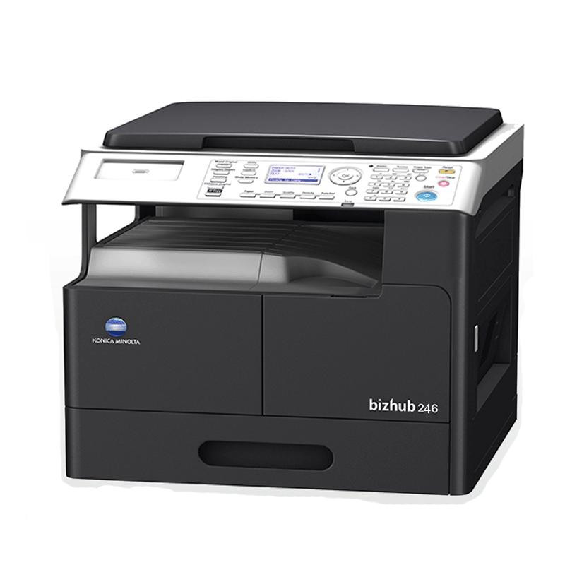 柯尼卡美能达bizhub246数码黑白多功能复合机 复印机 主机+双纸盒+输稿器