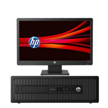 惠普 HP EliteDesk 800 G2 SFF 纤小型 商用台式机电脑 i5-6500 4G 1TB DVD WIN7 标配单机