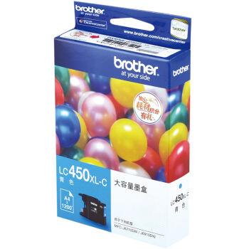 兄弟(brother)LC450XL-C青色墨盒(适用于:MFC-J6710DW、J5910DW、J6910DW )