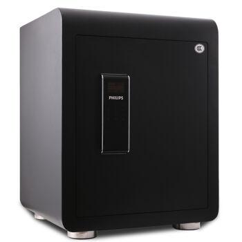 飞利浦(PHILIPS)保险柜3C保险箱 家用办公 防火远程电话报警防盗 绅士黑55cm高