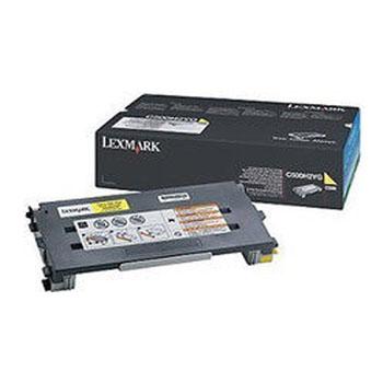 利盟(Lexmark)C500H2YG 黄色碳粉盒 C500N粉仓