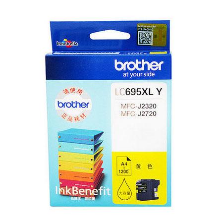 兄弟(brother)LC695XL Y 黄色墨盒(适用于 兄弟MFC-J2720、MFC-J2320)