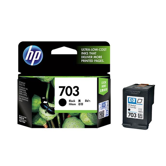 惠普(HP)CD887AA 703号黑色墨盒(适用DJ F735 D730 K109a/g K209a/g Photosmart K510a)