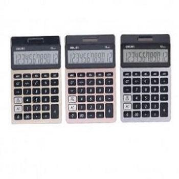 得力(deli)1575A计算器 12位数双电源计算机 时尚桌面办公多功能超大屏