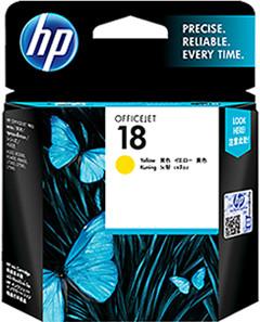 惠普(HP) 18号 C4939A 黄色墨盒 (适用HP OfficejetL7380,L7580,L7590,ProK5300,K5400dn,K8600)