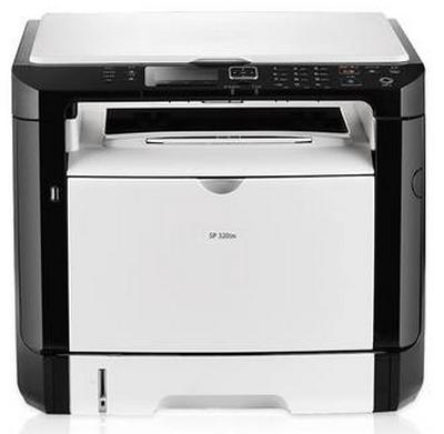 理光SP 320SN黑白激光多功能万博官网manbetxapp一体机 (复印/扫描 / 网络双面打印)