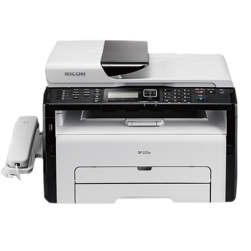 理光 SP 221SF(四合一)黑白激光万博官网manbetxapp一体机 复印机