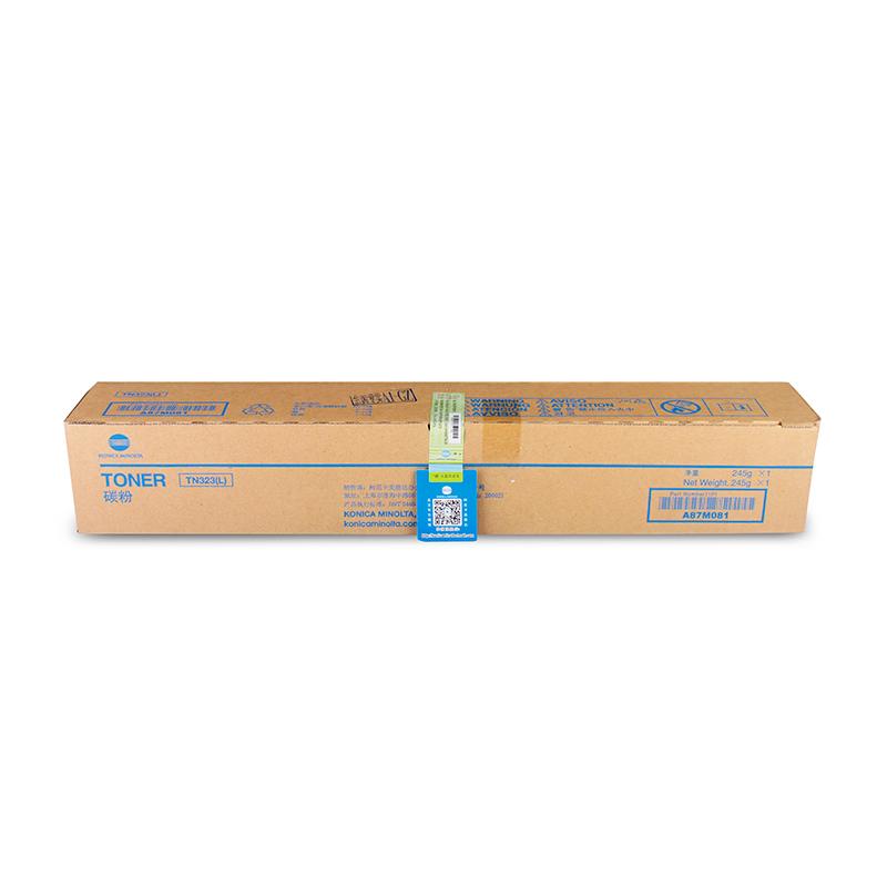 原装柯尼卡美能达 TN323L 碳粉 低容 复印机墨粉 227/287/367/7528 柯美粉盒(257g)