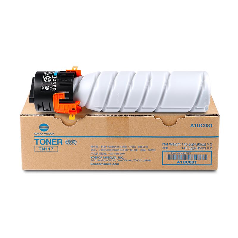柯尼卡美能达 TN117 低容装 适合机型BH164/184/185/7718 黑色(140.5g)