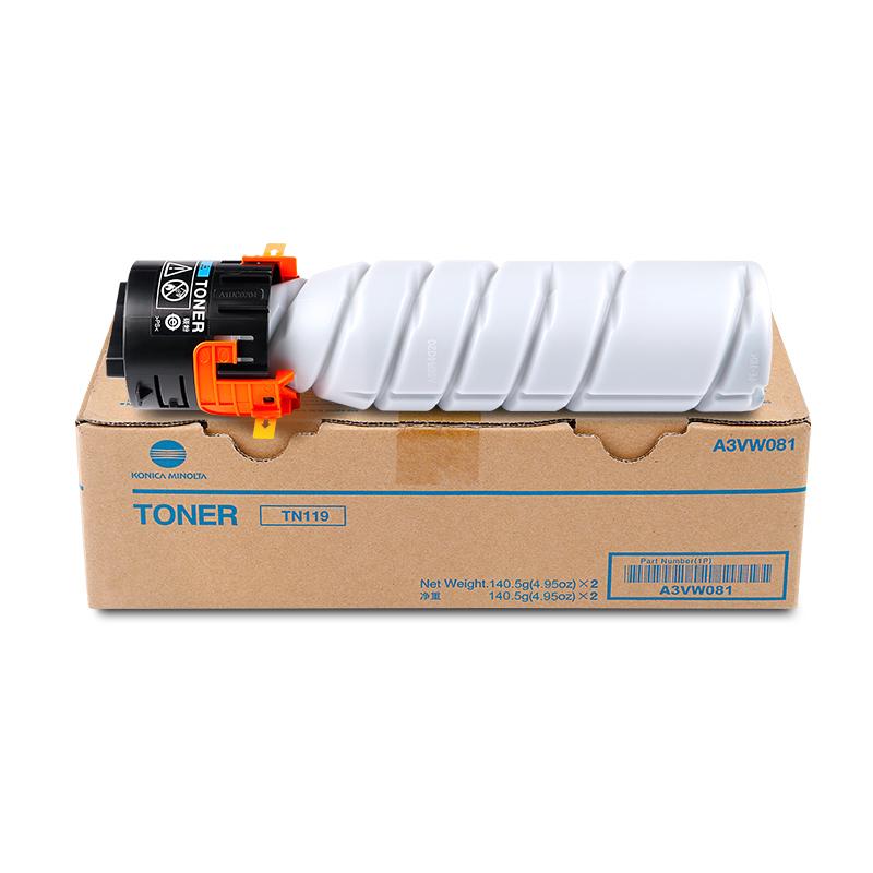 柯尼卡美能达 TN119  低容 墨粉 BH 206 226 246 碳粉 粉盒 黑色(标准容量140克 5500张)