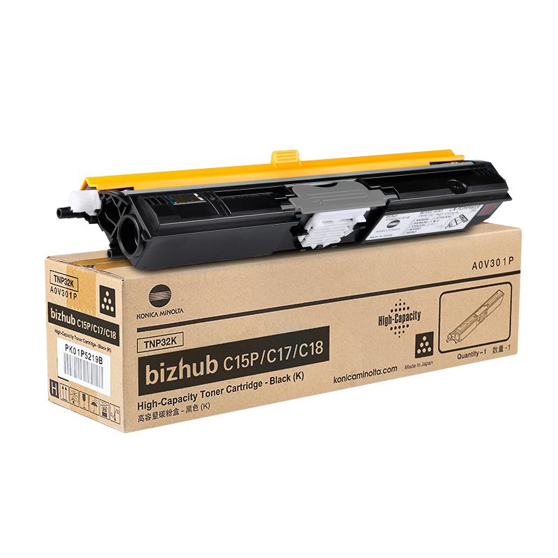 柯尼卡美能达 TNP-32K 黑色碳粉 bizhub C15P/C17/C18万博官网manbetxapp专用粉盒墨粉