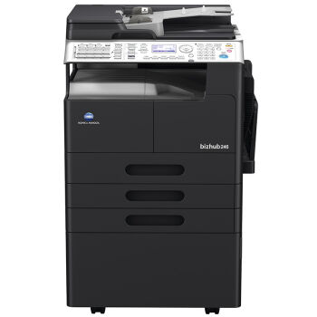 柯尼卡美能达bizhub266复合机黑白激光数码多功能A3复印机 主机+单纸盒