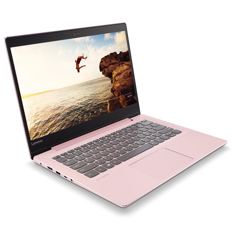 联想(Lenovo)小新潮7000 14英寸轻薄窄边框笔记本电脑(I5-8250U 8G 256G SSD IPS FHD)樱花粉