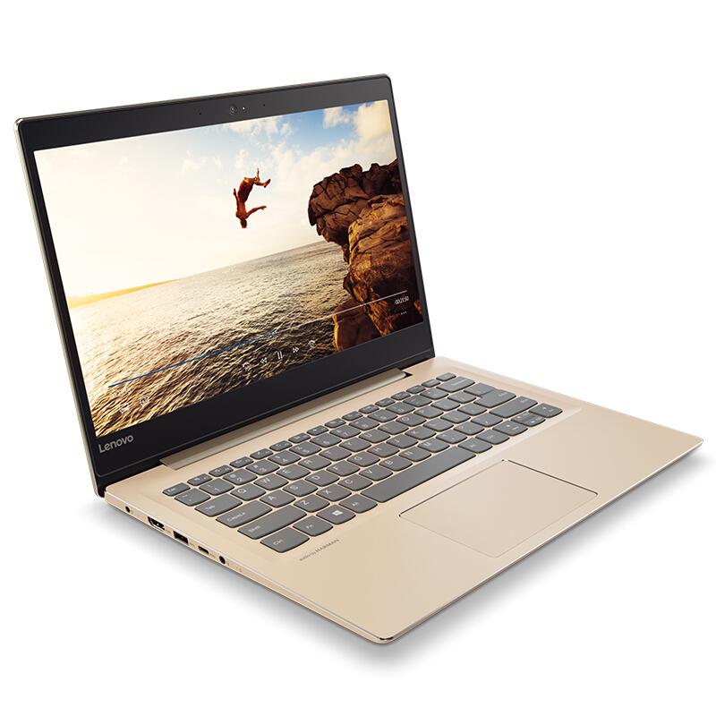 联想(Lenovo)小新潮7000 14英寸轻薄窄边框笔记本电脑(I5-8250U 8G 256G SSD IPS FHD)火花金