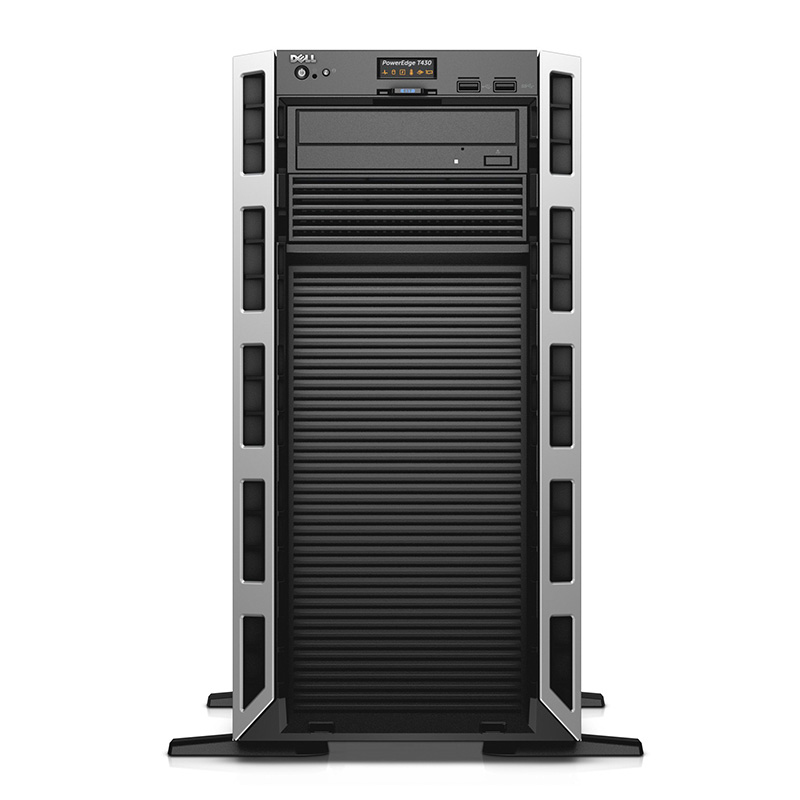 戴尔(DELL) T430 塔式服务器电脑主机 E5-2603V4*1颗 6核丨冷盘冷电 8G内存丨1块1T 7.2K 硬盘