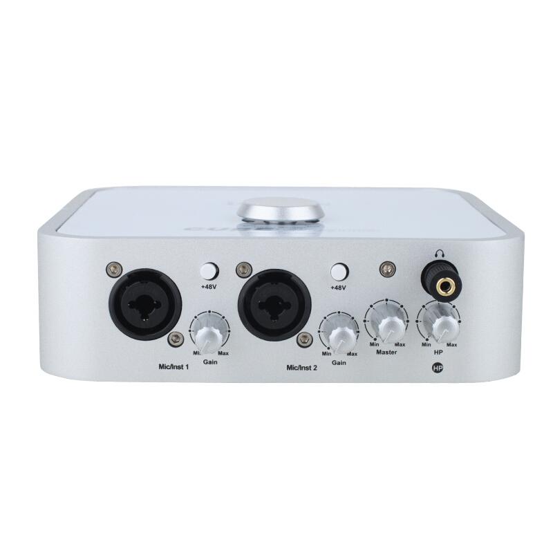 艾肯(iCON) USB外置声卡 (网络K歌声卡/Cube 4nano/录音主持/支持机架电音变音/内置48V电源/包调试)