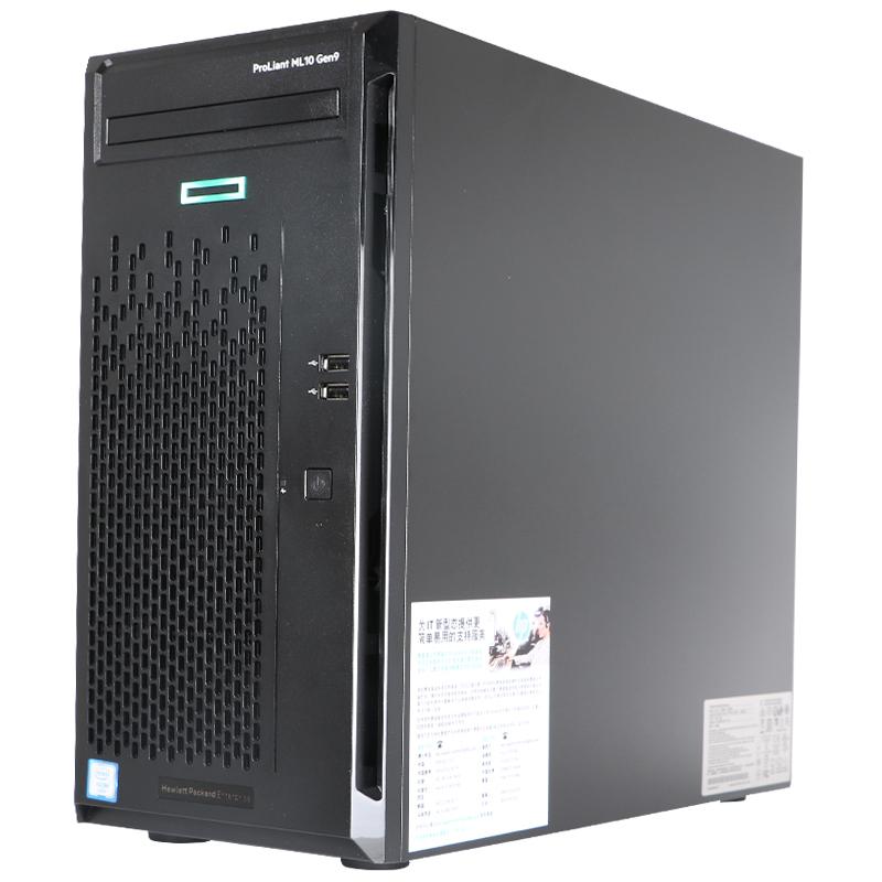 惠普(HP) ML10 GEN9服务器 1路塔式服务器主机 G4400 837826-AA1 8G内存+1T硬盘