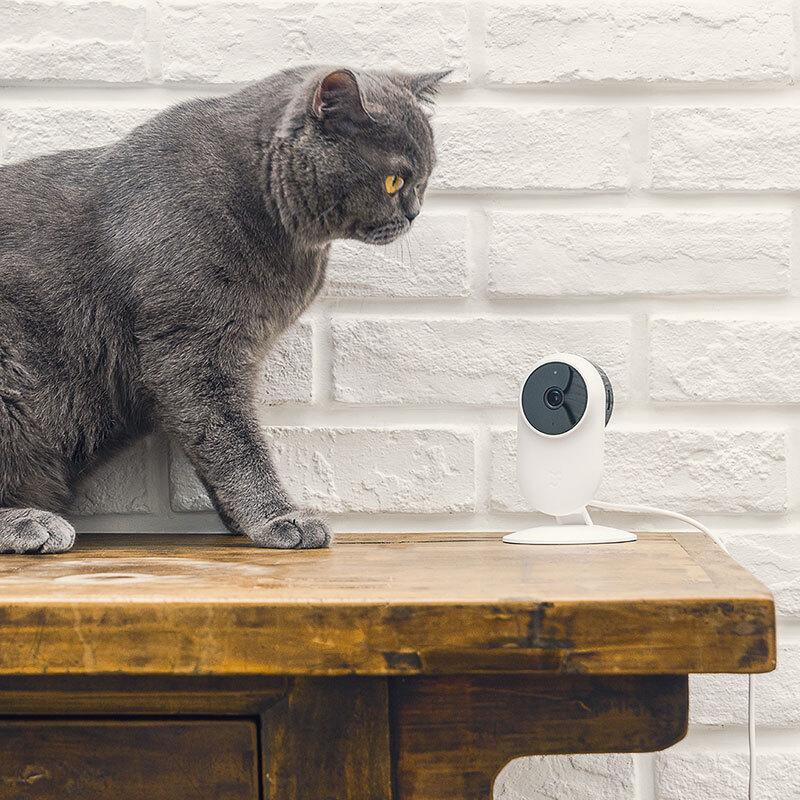 米家(MIJIA)智能摄像机 小米WiFi监控摄像头 1080P全高清红外夜视 130°广角镜头 双向语音动
