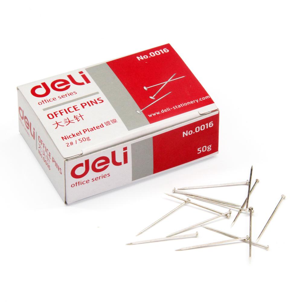得力(deli)0016 2#24mm大头针(50克/盒)
