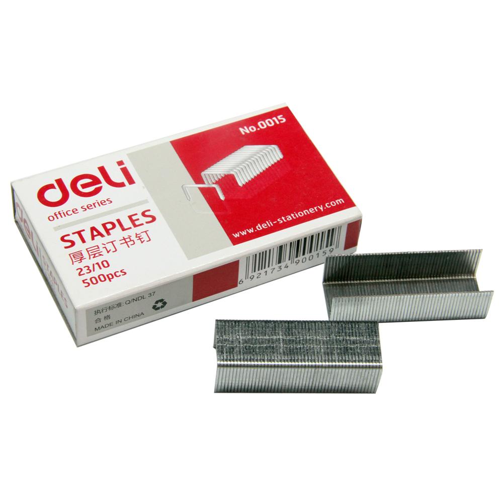 得力(deli)0015 厚层订书钉23/10(10盒装)