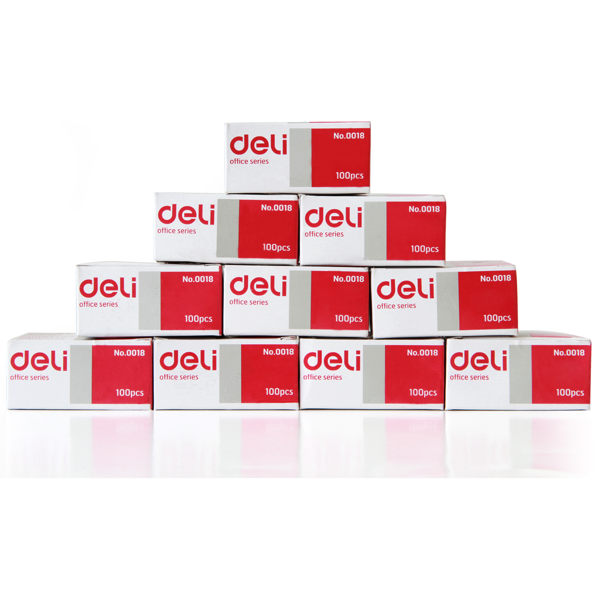 得力(deli)0018 回形针100枚/盒 10盒装