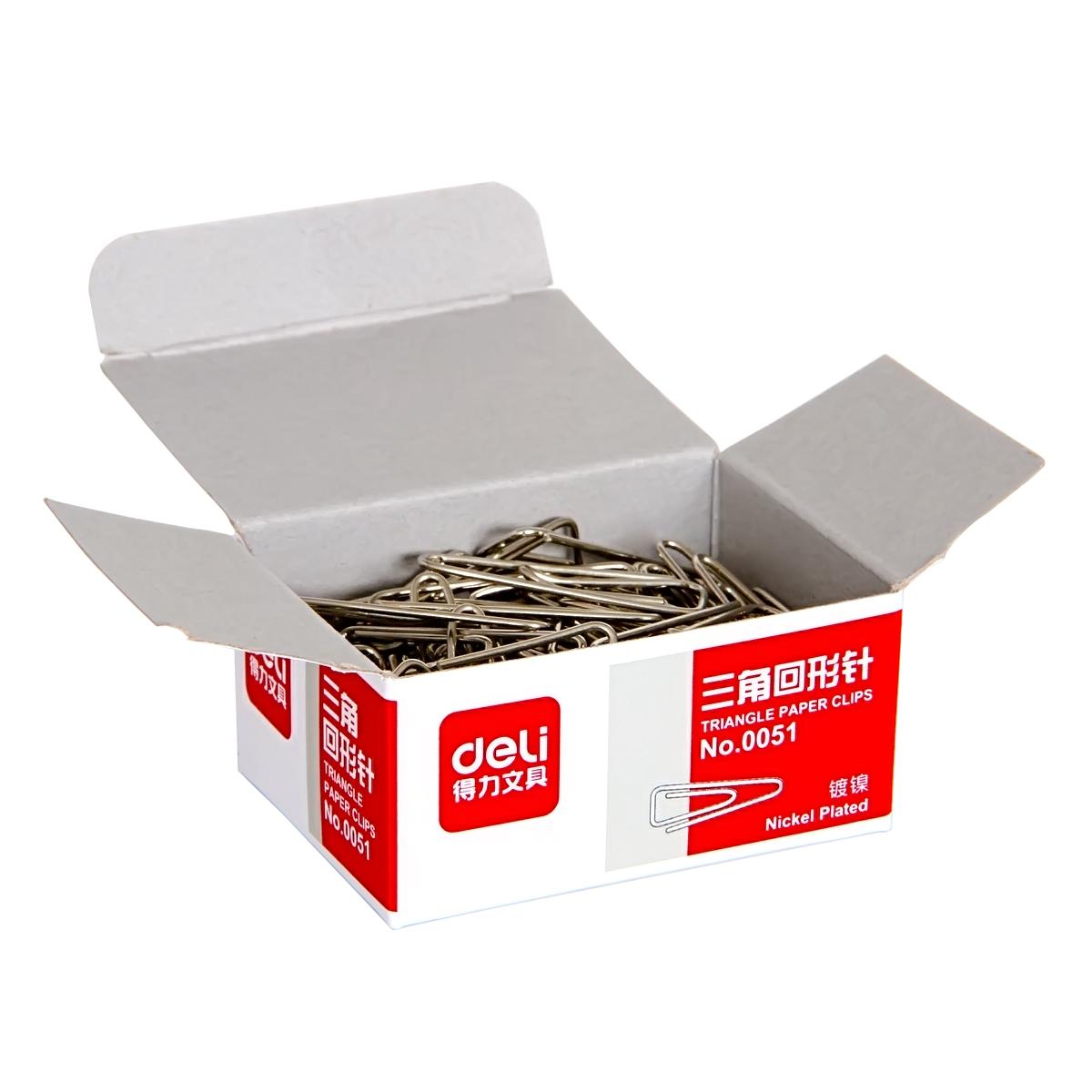 得力(deli)0051 三角形回形针 曲别针 100枚/盒