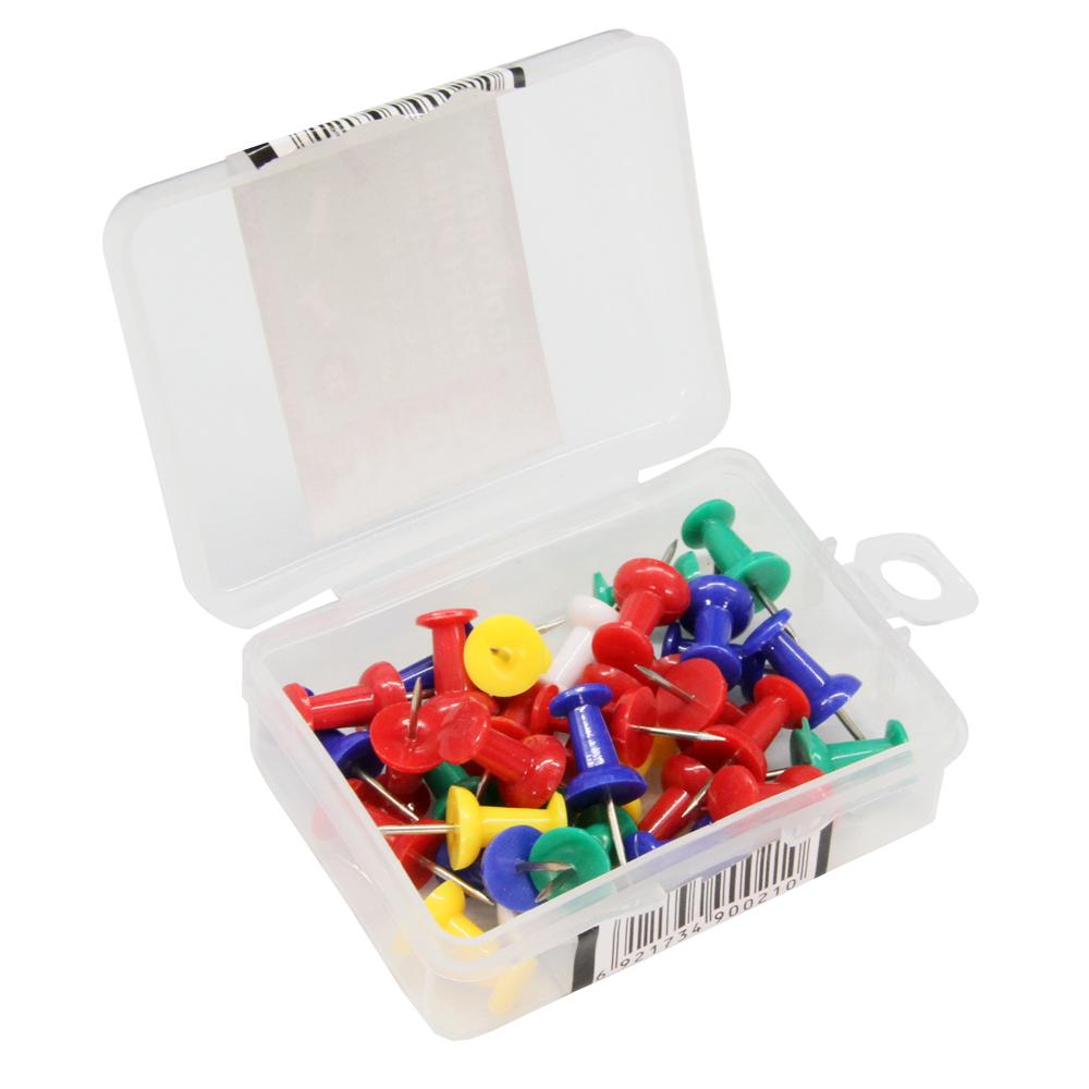 得力(deli)0021彩色工字钉 图钉 按钉 大头钉 创意按钉软木钉 办公用品 1盒