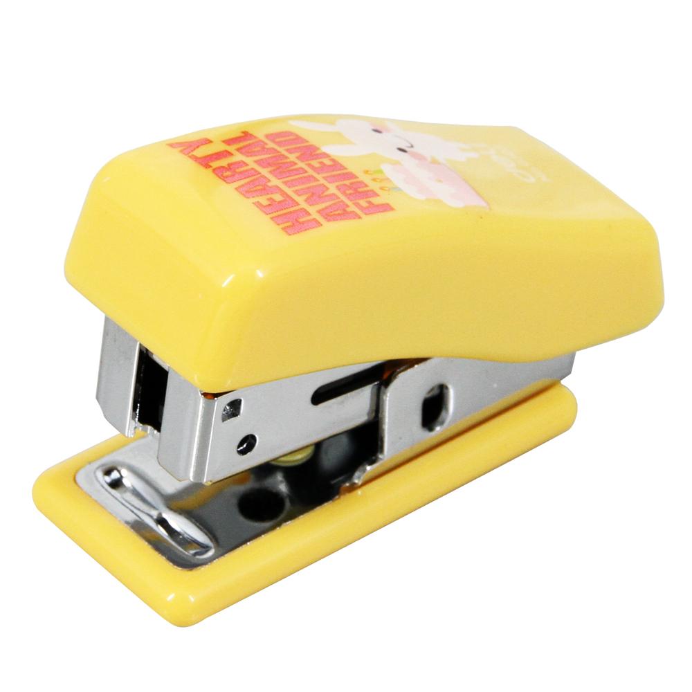 得力(deli)0303 12#迷你订书机 可爱卡通小号装订器 带起钉功能 颜色随机