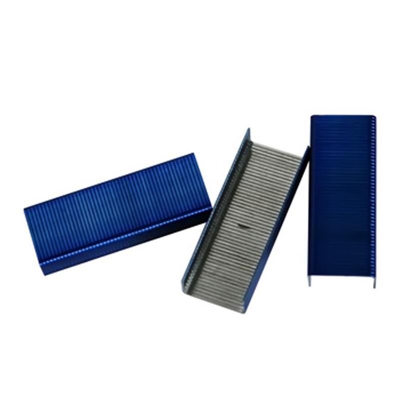 得力(deli)0211 彩色订书钉24/6 800枚/盒 10盒装