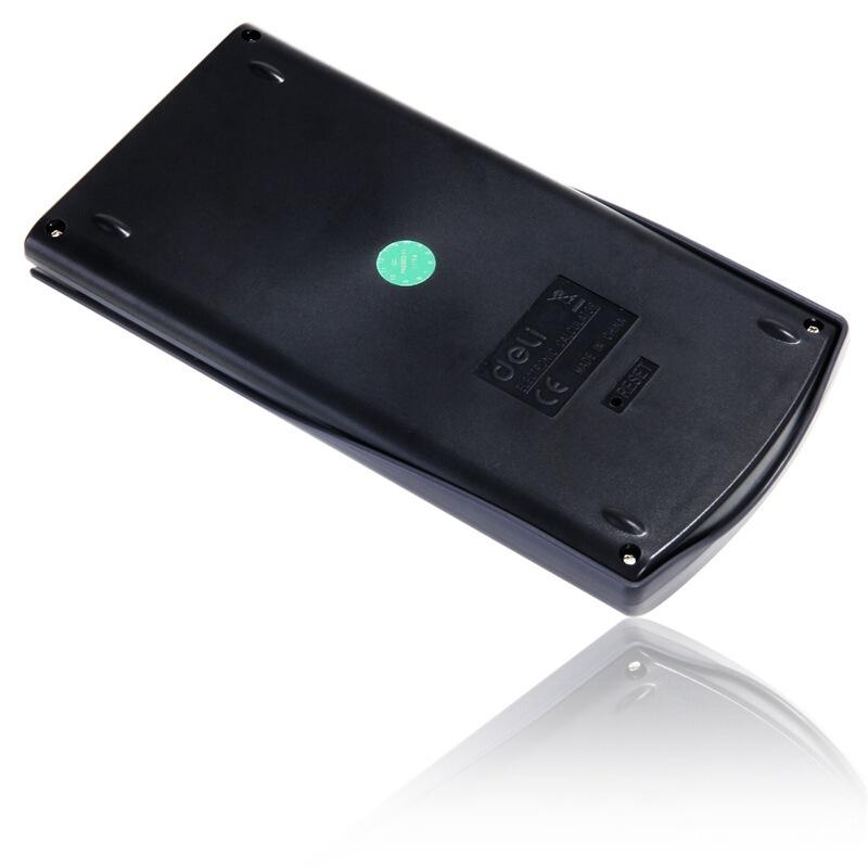 得力(deli)1710 大屏幕双行显示滑动保护盖设计函数型计算器(深灰)