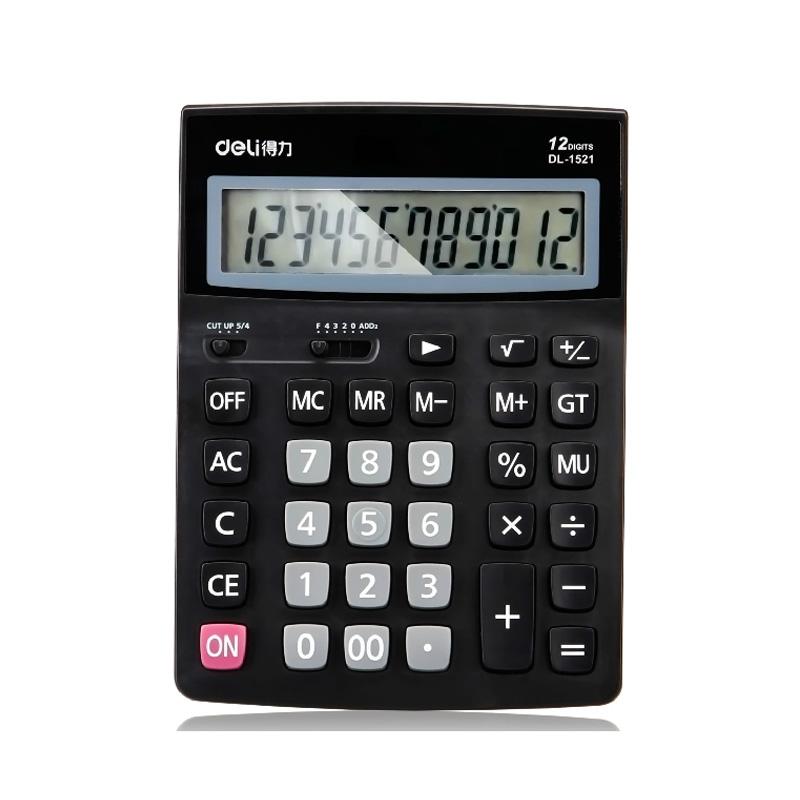 得力(deli)1521A桌面计算器 12位数大屏幕大加号商店计算器