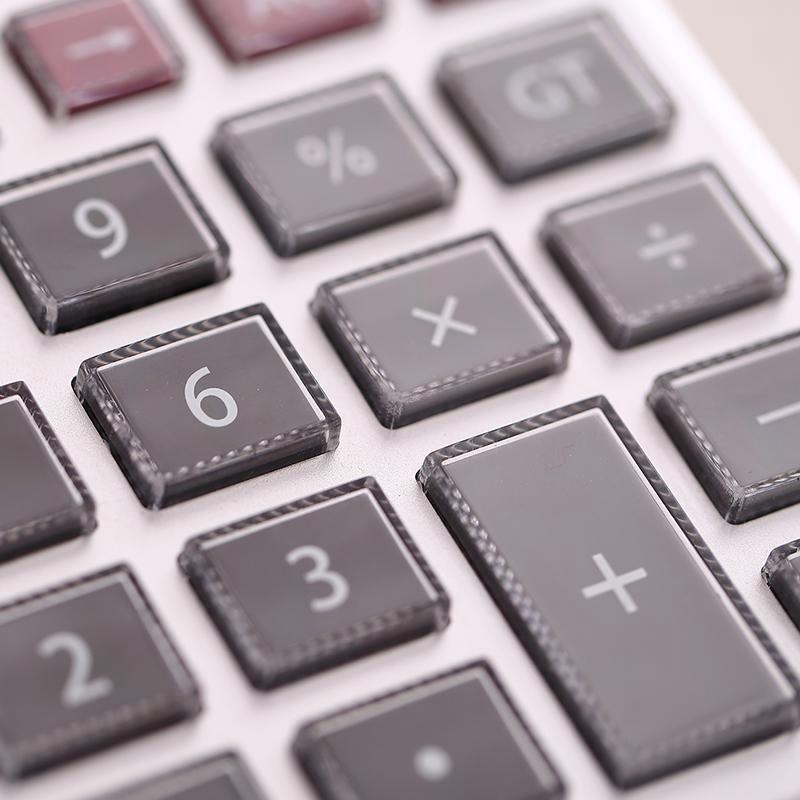 得力(deli)1512 12位大屏幕语音型计算器/计算机 水晶按键经济款