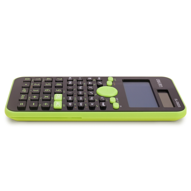 得力(deli)D82ES双电源函数计算器 保护盖 学生专用计算机 252种功能 适用小学到大学教程(绿色)