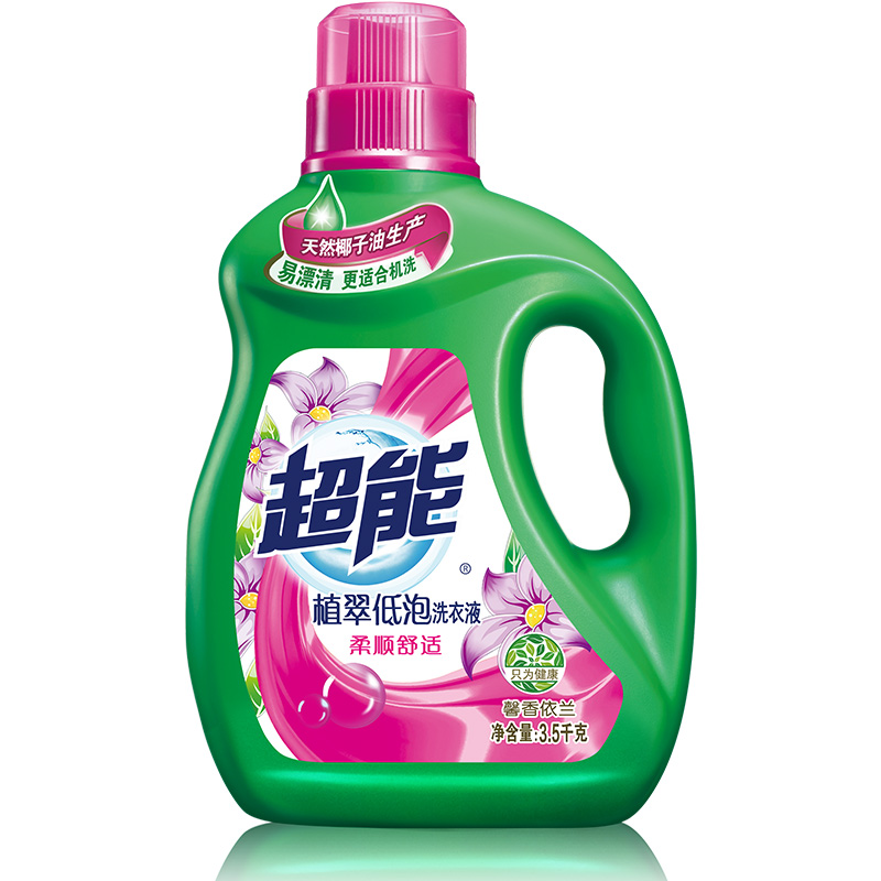 超能 植翠低泡洗衣液(柔顺舒适)3.5kg(新老包装随机发货)