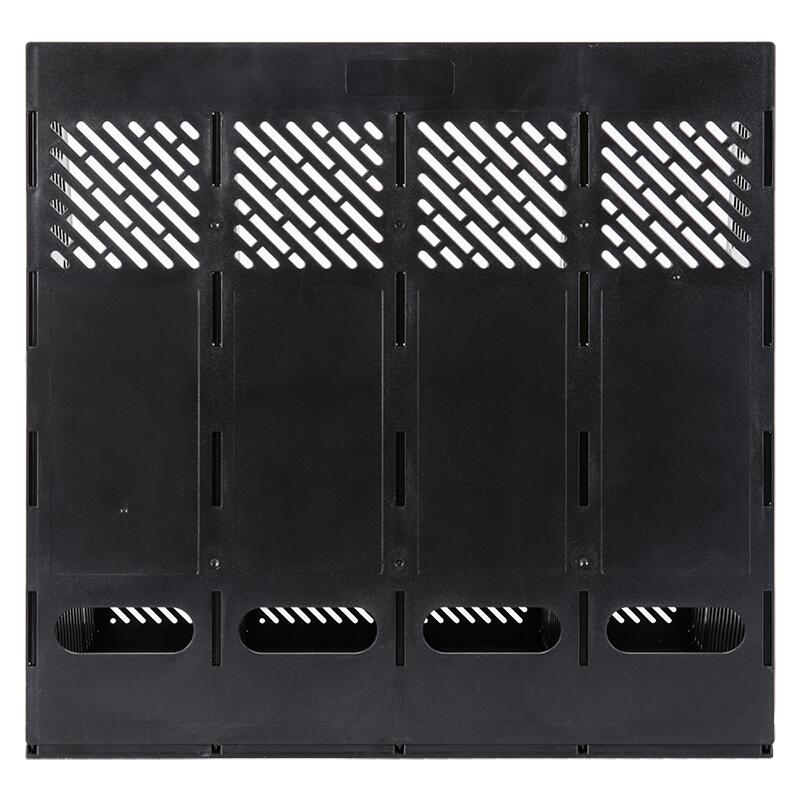 得力(deli)9848 四联/四栏文件筐/文件框 (黑色)