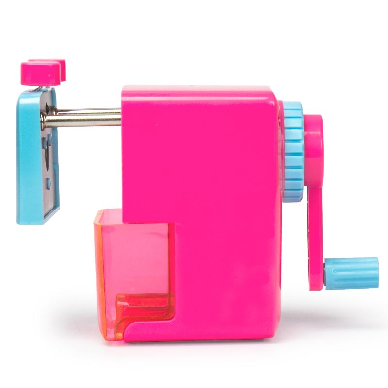 得力(deli)0616 手摇削笔机器/转笔刀/铅笔卷笔刀 颜色随机 粉红色