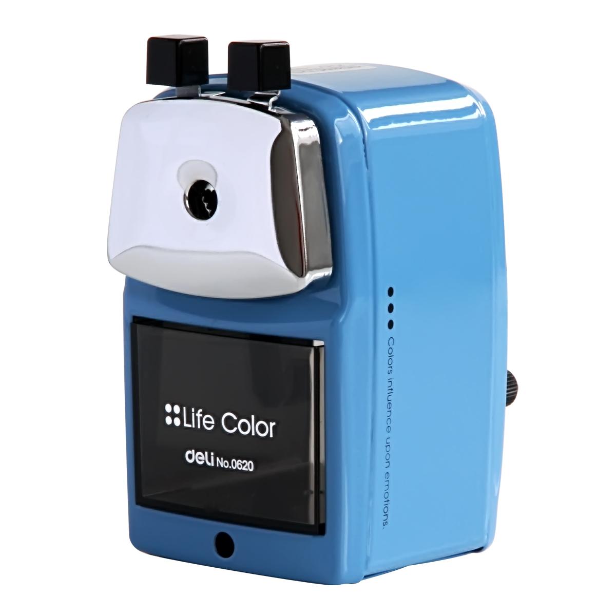 得力(deli)0620金属削笔机器 卷笔刀 转笔刀 卷笔器 蓝色