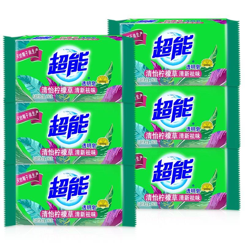 超能柠檬草透明皂 260g*6