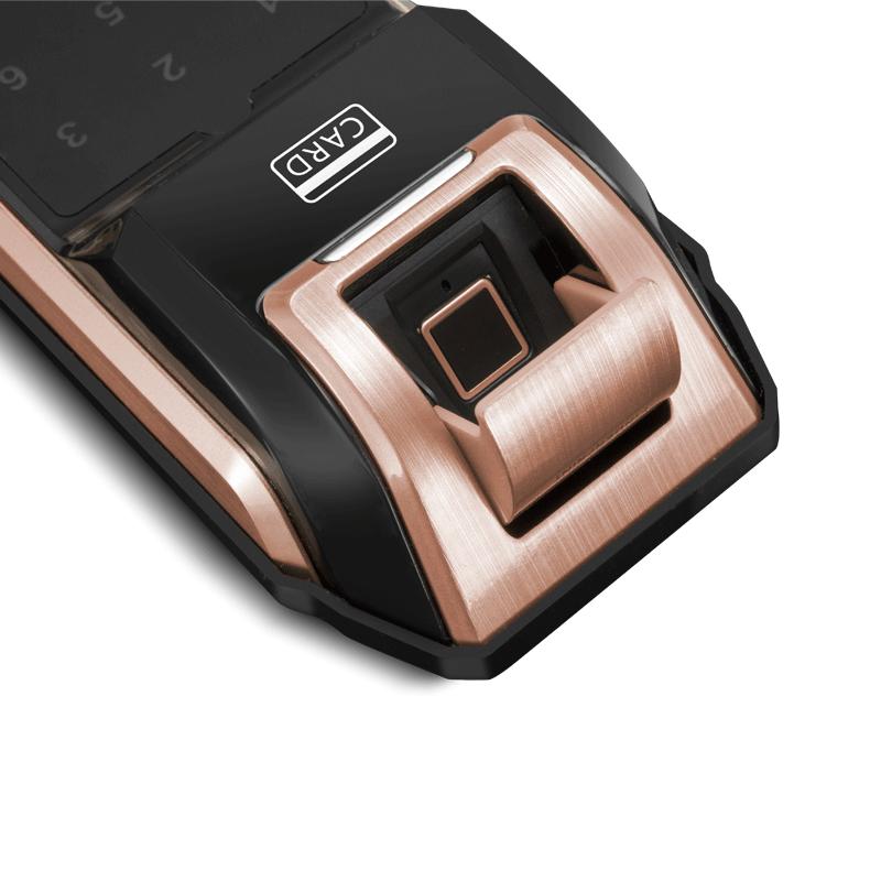科密S2 指纹锁家用防盗门密码锁智能电子锁刷卡手机感应指纹 太空银