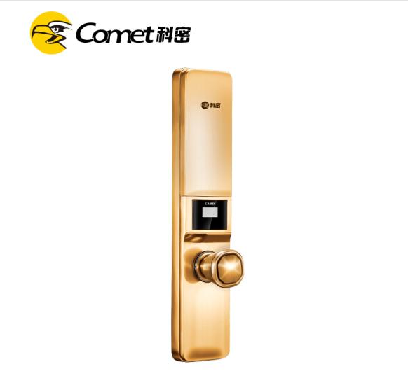 科密S1指纹锁 指纹锁家用防盗门密码锁智能电子锁 太空银