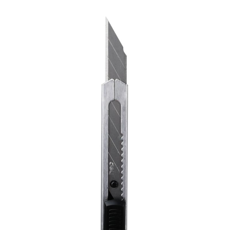 得力(deli) 2034 小号美工刀 金属壁纸墙纸贴膜刀 30度角雕刻刀片美工刀 银色