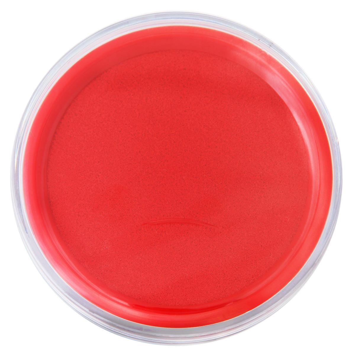 得力(deli)9863 圆形透明外壳快干印台 蓝色/红色 红色