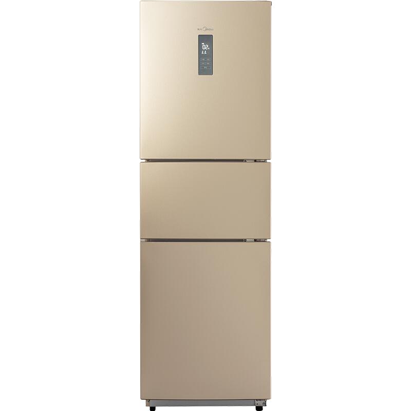 美的(Midea)BCD-226WTM(E) 226升 风冷无霜 电脑控温三门冰箱 中门24档调温 芙蓉金