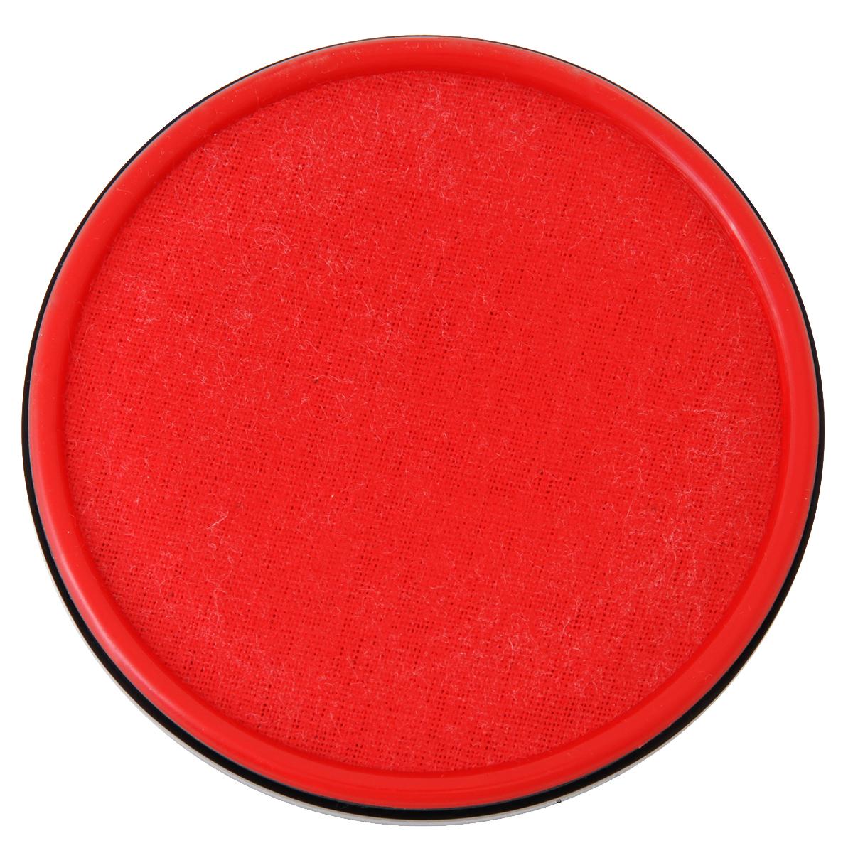 得力(deli)9859 φ89mm金属盖快干秒干印台印泥 红色