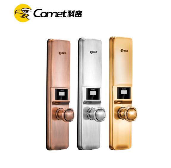 科密S1指纹锁 指纹锁家用防盗门密码锁智能电子锁 红古铜