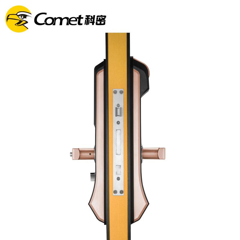 科密S2 指纹锁家用防盗门密码锁智能电子锁刷卡手机感应指纹 青古铜