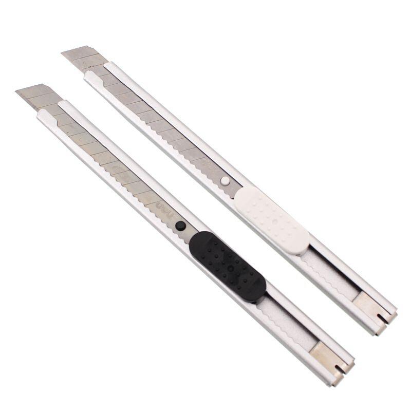 得力(deli)2053 小号金属美术刀 小型裁纸刀 便携切纸刀 颜色随机