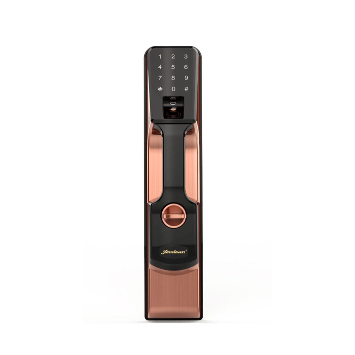 科密K1指纹锁 指纹锁家用防盗门密码锁智能电子锁 红古铜